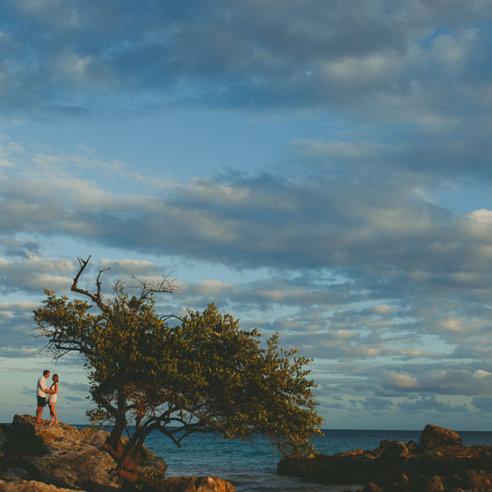 Tulum Photographer |Annette + Xavi | Engagement Session |  Viento de Mar