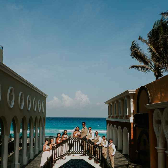 Crown Paradise Club Cancun Wedding Photographer | Corina + José