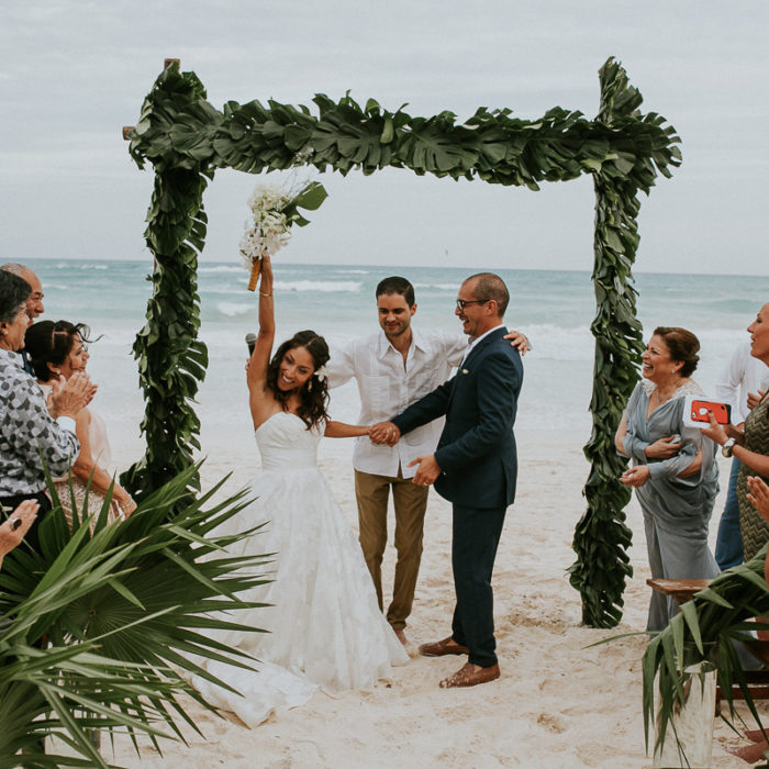 Akiin Beach Wedding Photographer| Claudia + Juan Carlos