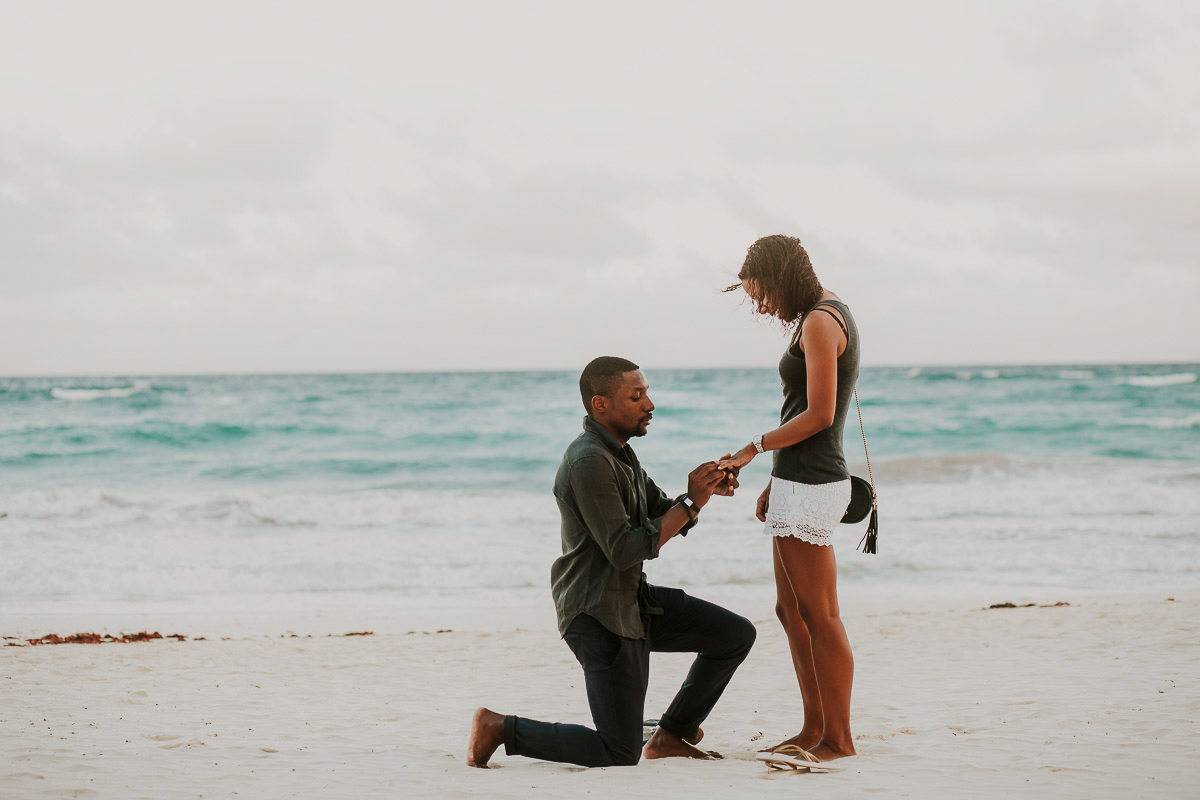 Wedding Proposal Tulum Pictures By Elvis Aceff Riviera Maya Photographer Journalistic Photos Without Interfering And Posing For The Surprise Ring