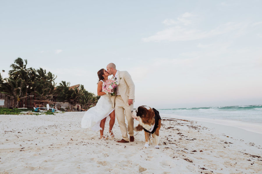 Akiin Beach Club Tulum Wedding Photographer | Pilar + Carlos