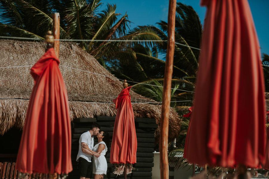 Playa del Carmen Honeymoon Portraits | Karla + Justin