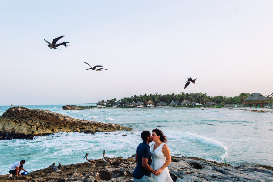 Tulum Engagement Pictures at El Pez | Lisa + Brian